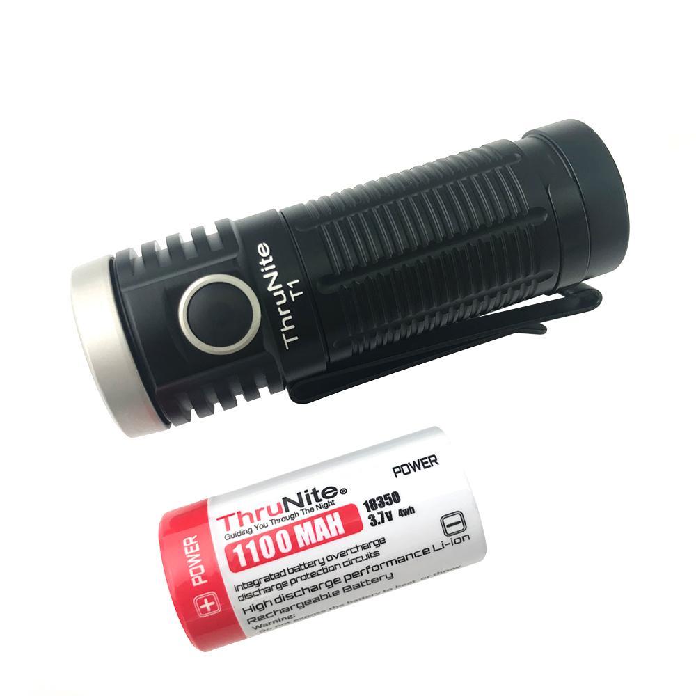 ThruNite T1 Mini-Taschenlampe  inkl. 18350 Akku