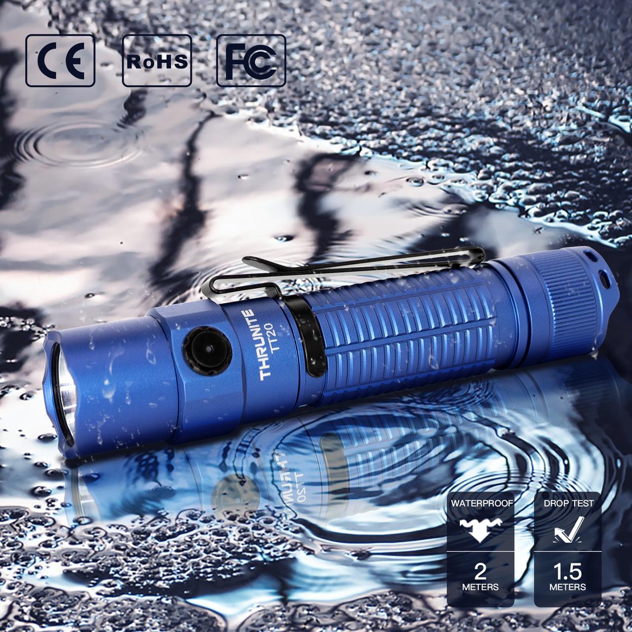 ThruNite TT20 'Ocean Blue' inkl. 21700 Akku in kaltweiss
